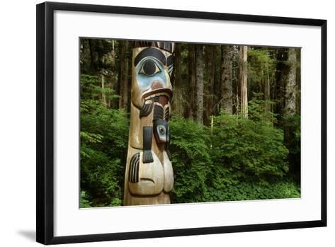 Closeup of Totem Pole Near Sitka Ak on Baranof Island, Tongass National Forest Southeast Summer-Design Pics Inc-Framed Art Print