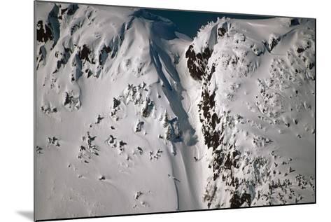 Person Snowboarding Down Chute at Eaglecrest Ski Resort Douglas Isl Near Juneau Alaska Se Winter-Design Pics Inc-Mounted Photographic Print