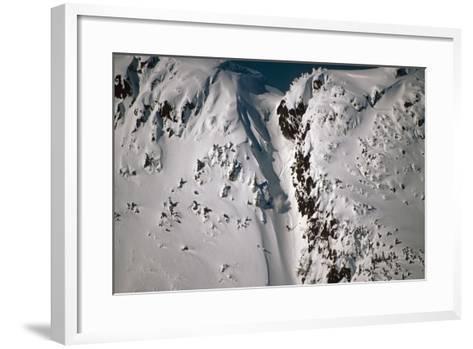 Person Snowboarding Down Chute at Eaglecrest Ski Resort Douglas Isl Near Juneau Alaska Se Winter-Design Pics Inc-Framed Art Print