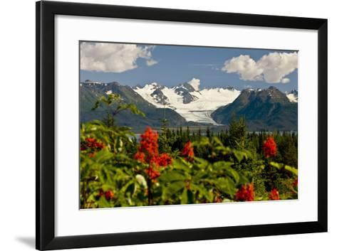 Summer Scenic of Grewingk Glacier and the Kenai Mountains of Kachemak Bay State Park-Design Pics Inc-Framed Art Print