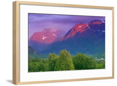 Aplenglow Sunset over Polar Bear Peak and Eagle Peak-Design Pics Inc-Framed Art Print
