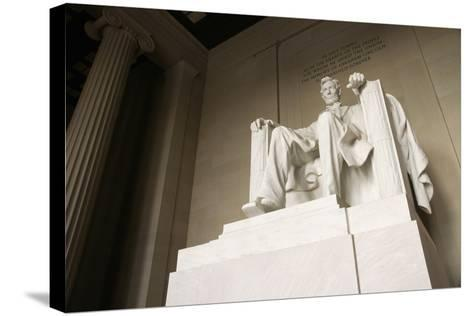 Monumental Statue of Abraham Lincoln in the Lincoln Memorial-Design Pics Inc-Stretched Canvas Print