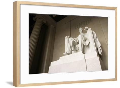 Monumental Statue of Abraham Lincoln in the Lincoln Memorial-Design Pics Inc-Framed Art Print