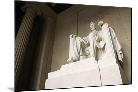 Monumental Statue of Abraham Lincoln in the Lincoln Memorial-Design Pics Inc-Mounted Photographic Print