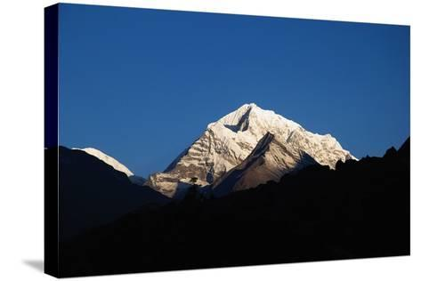 Sunrise on the Summits Above Namche Bazaar, Nepal-Design Pics Inc-Stretched Canvas Print