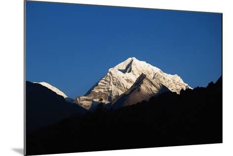 Sunrise on the Summits Above Namche Bazaar, Nepal-Design Pics Inc-Mounted Photographic Print