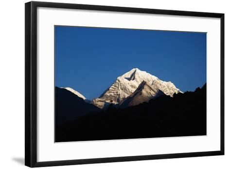 Sunrise on the Summits Above Namche Bazaar, Nepal-Design Pics Inc-Framed Art Print