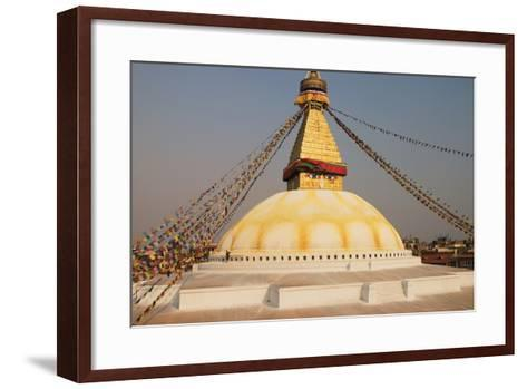 The Stupa at Bodhnath, Kathmandu, Nepal-Design Pics Inc-Framed Art Print