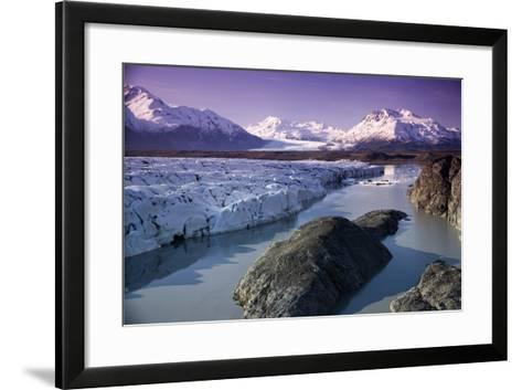 Aerial of Knik and Colony Glacier Matanuska Valley Chugach Mountains Southcentral Alaska Summer-Design Pics Inc-Framed Art Print
