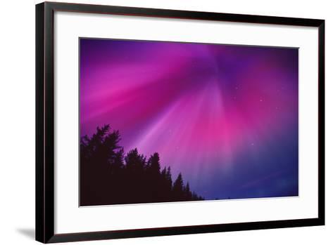 Aurora Corona over Crow Creek Sc Alaska Winter-Design Pics Inc-Framed Art Print