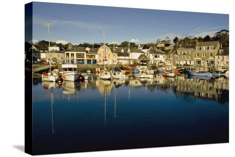 Padstow Marina Reflecting in Water-Design Pics Inc-Stretched Canvas Print