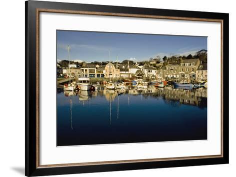 Padstow Marina Reflecting in Water-Design Pics Inc-Framed Art Print
