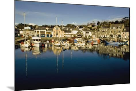 Padstow Marina Reflecting in Water-Design Pics Inc-Mounted Photographic Print