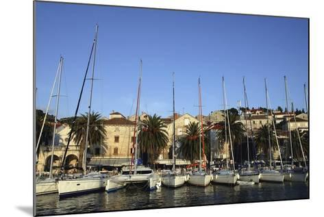 Sailboats Lined Up in Hvar Harbour-Design Pics Inc-Mounted Photographic Print