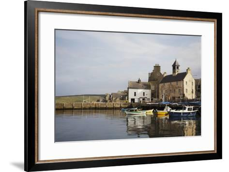 Village Houses and Boats in Harbor-Design Pics Inc-Framed Art Print