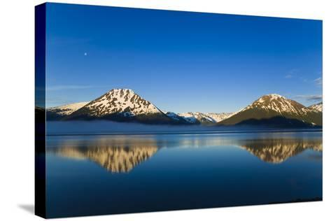 Panoramic View of Turnagain Arm and Kenai Mountains Near Girdwood-Design Pics Inc-Stretched Canvas Print
