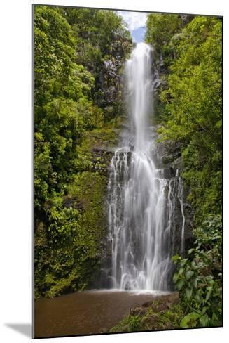 Hawaii, Maui, Wailua Falls, Large Falls with Lush Foliage-Design Pics Inc-Mounted Photographic Print