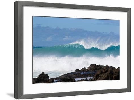 Hawaii, Maui, Laperouse, Beautiful Blue Ocean Wave-Design Pics Inc-Framed Art Print