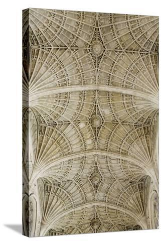 Ceiling of King's College Chapel-Design Pics Inc-Stretched Canvas Print