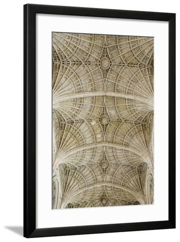 Ceiling of King's College Chapel-Design Pics Inc-Framed Art Print