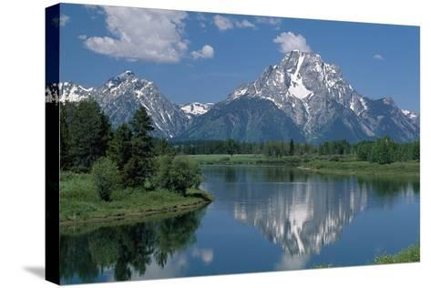 Mount Moran and Snake River-Design Pics Inc-Stretched Canvas Print