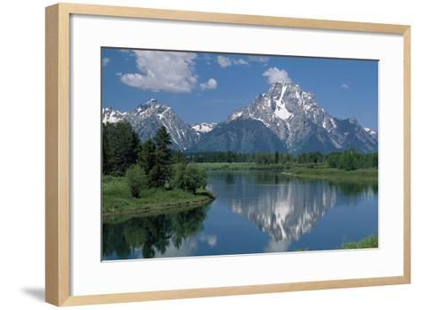 Mount Moran and Snake River-Design Pics Inc-Framed Art Print