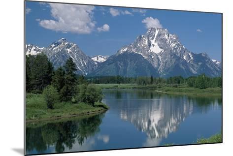 Mount Moran and Snake River-Design Pics Inc-Mounted Photographic Print