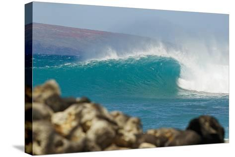 Hawaii, Maui, Laperouse, Beautiful Blue Ocean Wave-Design Pics Inc-Stretched Canvas Print