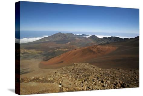 Hawaii, Maui, Haleakala Crater Landscape-Design Pics Inc-Stretched Canvas Print