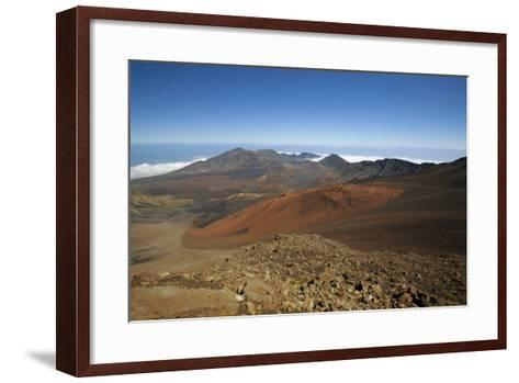 Hawaii, Maui, Haleakala Crater Landscape-Design Pics Inc-Framed Art Print