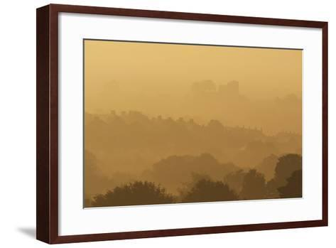 The Town and Castle of Lewes Early on a Misty, Autumnal Morning, East Sussex, Uk-Design Pics Inc-Framed Art Print