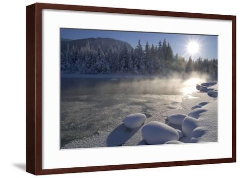 Mendenhall River Flowing Through Snow Covered Tongass National Forest Juneau Alaska Winter-Design Pics Inc-Framed Art Print