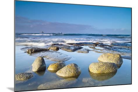 Boulders in the Water with Snow and Ice; Cape Foulwind South Island New Zealand-Design Pics Inc-Mounted Photographic Print