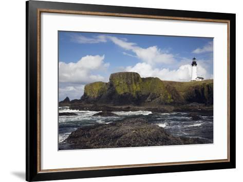 Lighthouse on Coastal Cliff-Design Pics Inc-Framed Art Print