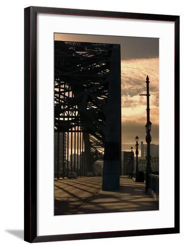Silhouette of Bridge; Newcastle Upon Tyne, Tyne and Wear, England, Uk-Design Pics Inc-Framed Art Print