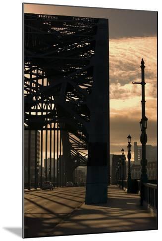 Silhouette of Bridge; Newcastle Upon Tyne, Tyne and Wear, England, Uk-Design Pics Inc-Mounted Photographic Print