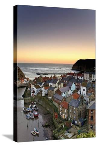 High Angle View of Staithes Townscape; North Yorkshire, England, Uk-Design Pics Inc-Stretched Canvas Print