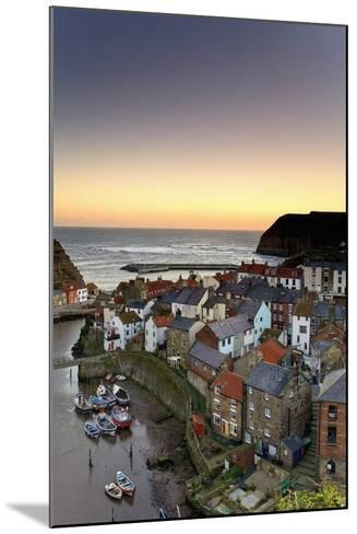 High Angle View of Staithes Townscape; North Yorkshire, England, Uk-Design Pics Inc-Mounted Photographic Print