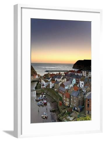 High Angle View of Staithes Townscape; North Yorkshire, England, Uk-Design Pics Inc-Framed Art Print