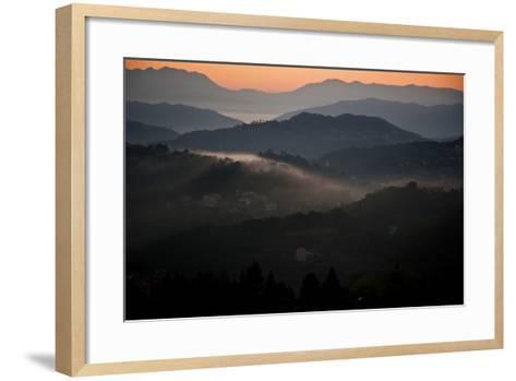 View of Cinque Terra National Park at Sunrise. Liguria, Italy Carlos Sanchez Pereyra-Design Pics Inc-Framed Art Print