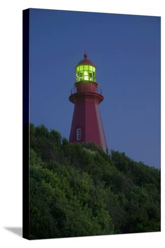 Red Lighthouse Illuminated; La Martre Quebec Canada-Design Pics Inc-Stretched Canvas Print