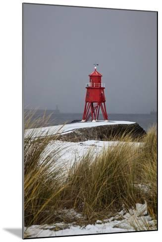 A Red Lighthouse Along the Coast; South Shields, Tyne and Wear, England-Design Pics Inc-Mounted Photographic Print