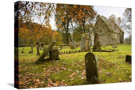 Ruins of Church and Graveyard; Argyl and Bute, Scotland, Uk-Design Pics Inc-Stretched Canvas Print