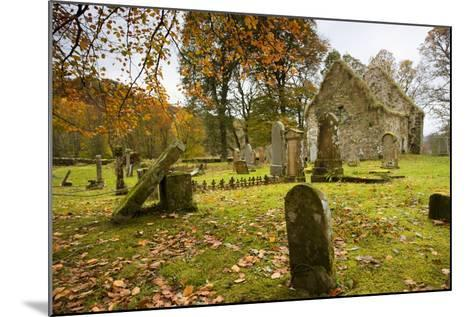 Ruins of Church and Graveyard; Argyl and Bute, Scotland, Uk-Design Pics Inc-Mounted Photographic Print