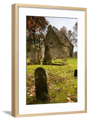 Ruins of Church and Graveyard; Argyl and Bute, Scotland, Uk-Design Pics Inc-Framed Art Print