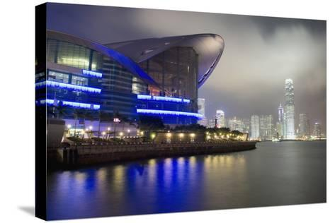 National Convention Center at Night, Long Exposure Elena Roman Durante-Design Pics Inc-Stretched Canvas Print