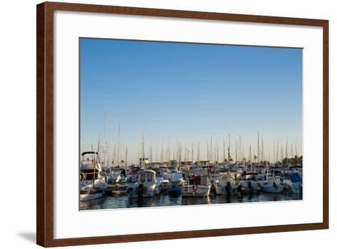 Boats in Alcudia's Port, Mallorca, Balearic Islands, Spain Dosfotos-Design Pics Inc-Framed Art Print