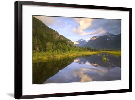 Eagle and Polar Bear Peak Reflected in Marsh Eagle River Valley Chugach Sp Ak Sc Summer-Design Pics Inc-Framed Art Print