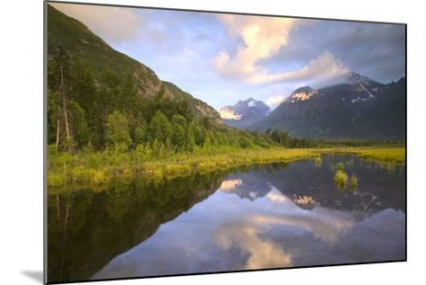 Eagle and Polar Bear Peak Reflected in Marsh Eagle River Valley Chugach Sp Ak Sc Summer-Design Pics Inc-Mounted Photographic Print
