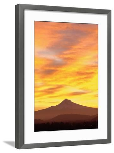 Sunrise over Mount Hood, Portland, Oregon, USA-Design Pics Inc-Framed Art Print